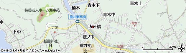 広島県尾道市因島重井町(大正橋)周辺の地図