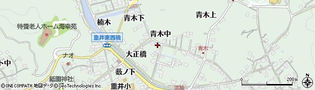 広島県尾道市因島重井町(青木中)周辺の地図