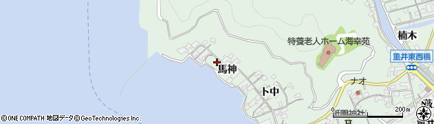 広島県尾道市因島重井町(馬神)周辺の地図