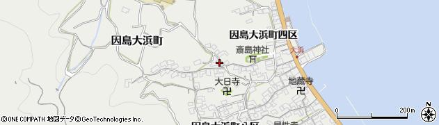 広島県尾道市因島大浜町(七区)周辺の地図