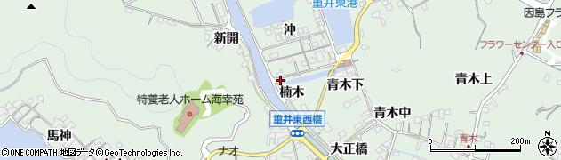 広島県尾道市因島重井町(楠木)周辺の地図