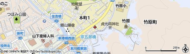 三原竹原線周辺の地図