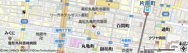 ガスト 高松丸亀町店周辺の地図