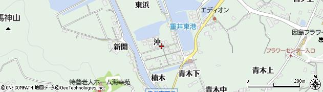 広島県尾道市因島重井町(沖)周辺の地図
