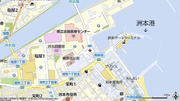 〒656-0027 兵庫県洲本市港の地図