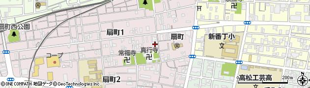 香川県高松市扇町1丁目周辺の地図