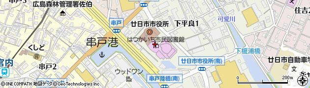 広島県廿日市市周辺の地図