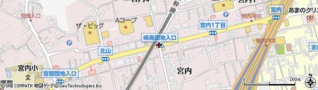 峰高団地入口周辺の地図