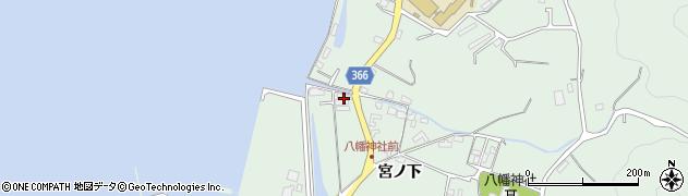 広島県尾道市因島重井町(宮沖)周辺の地図