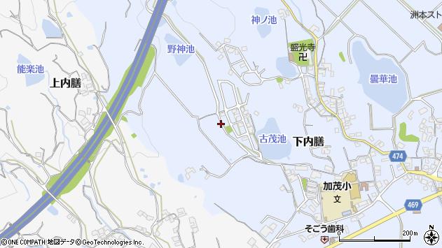 〒656-0016 兵庫県洲本市下内膳の地図