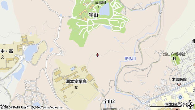 〒656-0012 兵庫県洲本市宇山の地図