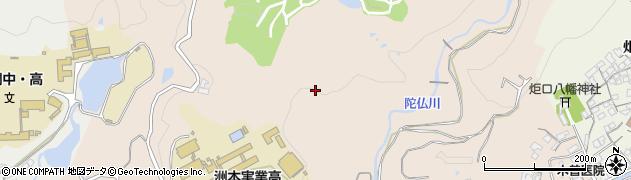 兵庫県洲本市宇山周辺の地図