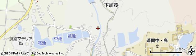 兵庫県洲本市下加茂周辺の地図