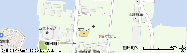 香川県高松市朝日町2丁目周辺の地図
