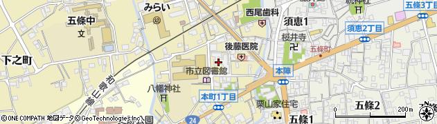 南都銀行五條市役所駐車場内 ATM周辺の地図