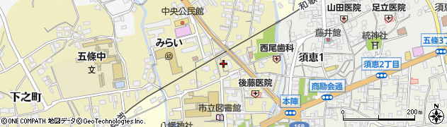 奈良県五條市本町周辺の地図