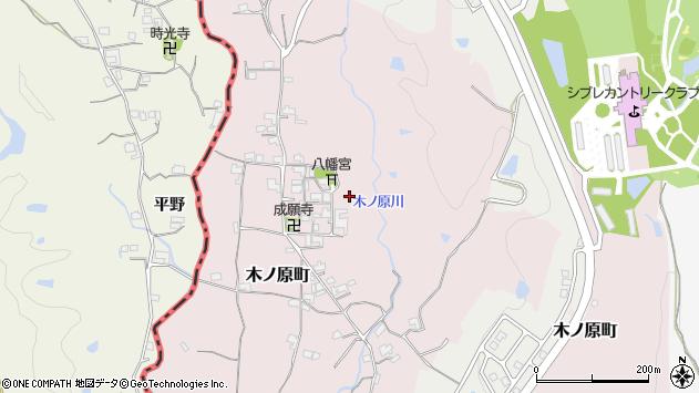 〒637-0076 奈良県五條市木ノ原町の地図