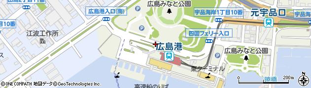 旅客ターミナル周辺の地図