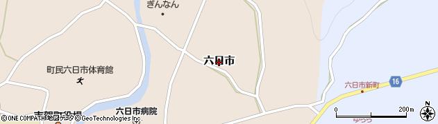 島根県吉賀町(鹿足郡)六日市周辺の地図
