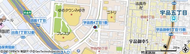 宇品西4‐1周辺の地図