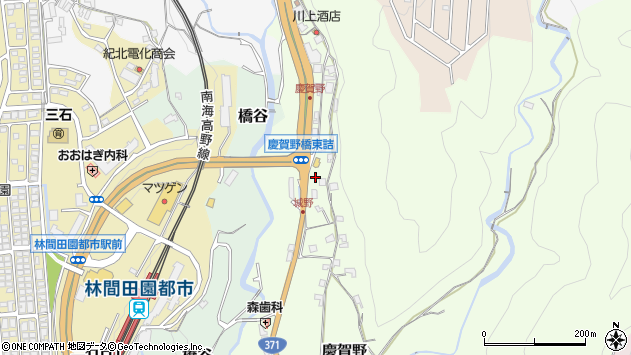 〒648-0093 和歌山県橋本市慶賀野の地図
