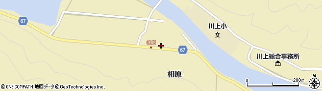 山口県萩市川上(相原)周辺の地図