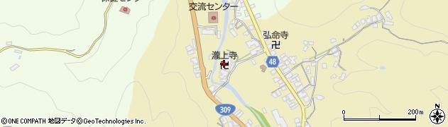 藤谷山瀧上寺周辺の地図
