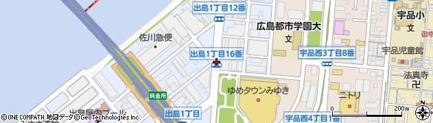 出島1‐16周辺の地図