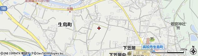 香川県高松市生島町周辺の地図