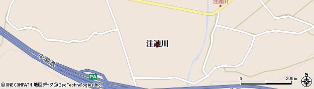 島根県吉賀町(鹿足郡)注連川周辺の地図