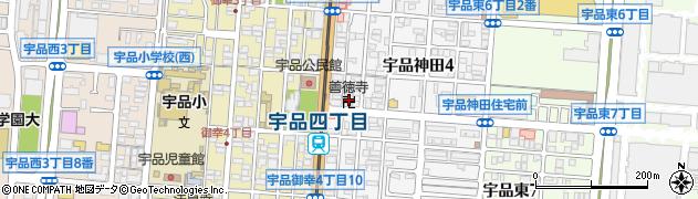 善徳寺周辺の地図