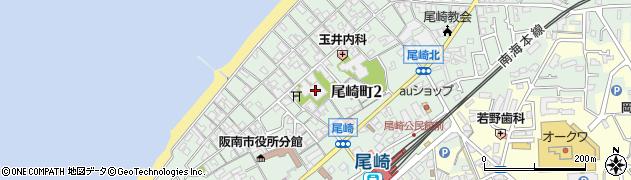 西本願寺尾崎別院周辺の地図