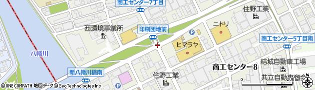 木工団地前周辺の地図