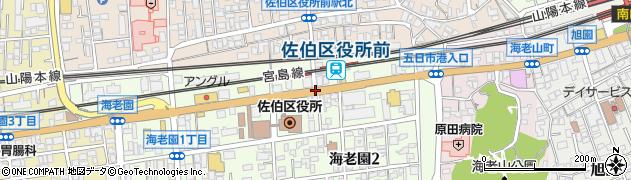 駅入口周辺の地図