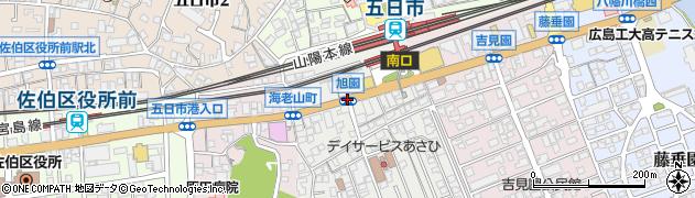 旭園周辺の地図
