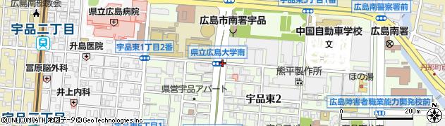 宇品東2‐1周辺の地図