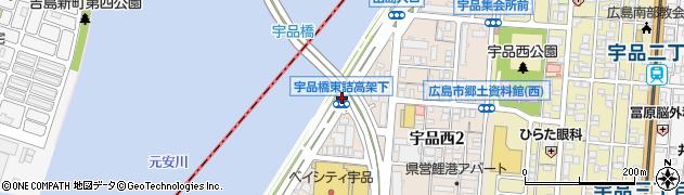 橋東詰高架下周辺の地図