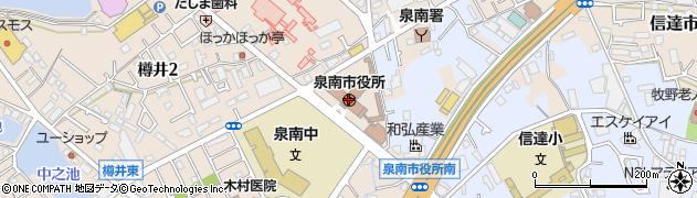 大阪府泉南市周辺の地図