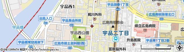 宇品御幸2周辺の地図