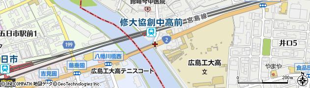 八幡川橋東周辺の地図