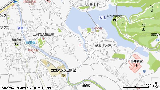 〒590-0503 大阪府泉南市新家の地図
