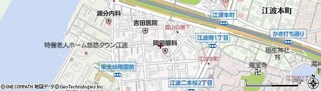 広島県広島市中区江波二本松周辺の地図