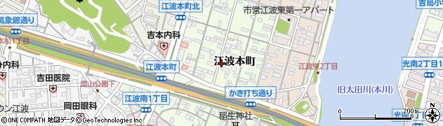 広島県広島市中区江波本町周辺の地図