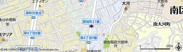 西旭町21番周辺の地図