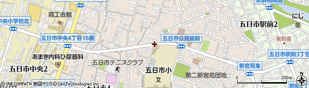 五日市小北口周辺の地図