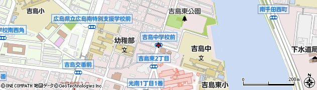 吉島中学校前周辺の地図