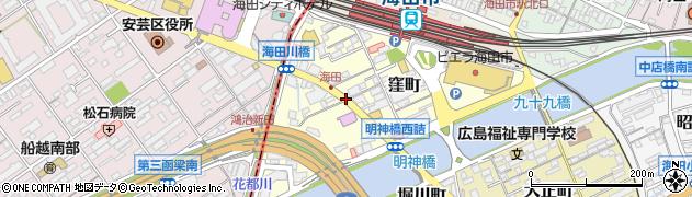 海田窪町周辺の地図