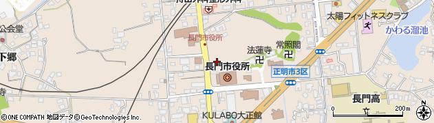 山口県長門市周辺の地図