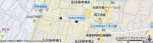 中央小北周辺の地図