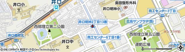 井口明神2周辺の地図